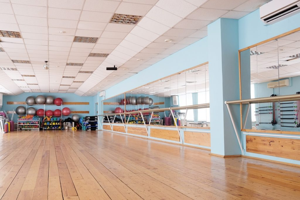 Interior of a dance studio